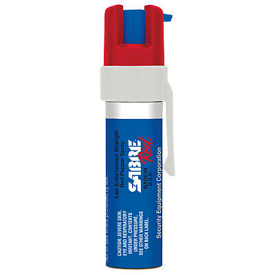 SABRE RED Pepper GEL 19grm (35 Burts) Pocket Unit With Clip Red, White, And Blue