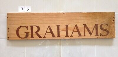 Wooden Wine Box  PANEL #35: Graham's Port - Portugal