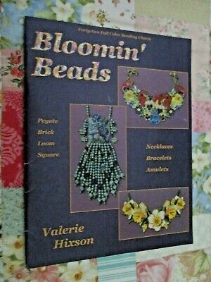 BLOOMIN' BEADS - FORTY-TWO FULL COLOUR BEADING CHARTS By VALERIE HIXSON