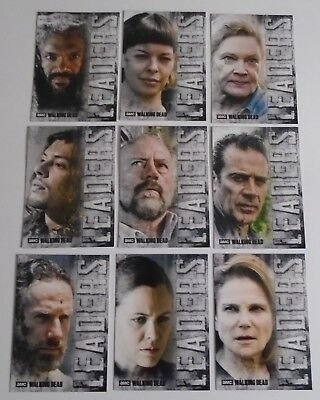 2018 Topps Amc The Walking Dead Hunters & The Hunted Leaders 9 Card Insert Set