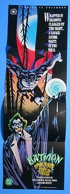 "1993 DC COMICS BATMAN DARK JOKER THE WILD PROMO POSTER 11"" x 34"""