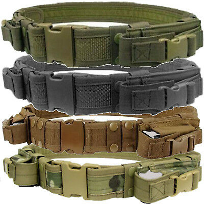 Condor TB Tactical Combat Police SWAT 2 Pistol Mag Pouch Duty Belt Up to 44-Inch