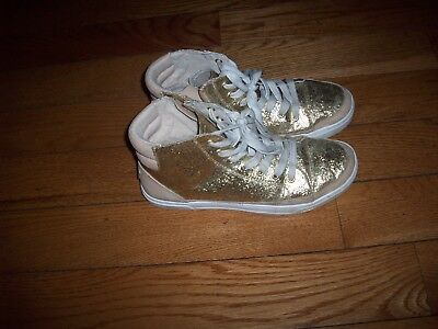 ef0d51f1e8f UGG GRADIE GLITTER Gold Fashion High Top Sneakers Size 8.5 Us ...