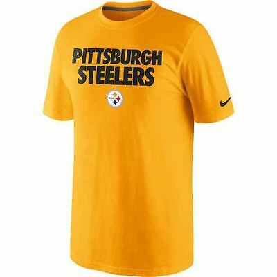 e92f34004 Nike NFL Pittsburgh Steelers Yellow Short Sleeve T-Shirt - Men s Size Small  (S