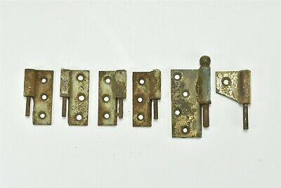 Antique 5 PIECES CAST IRON EARLY COUNTRY DROP ON IN DOOR HINGES PARTS ONLY 68891