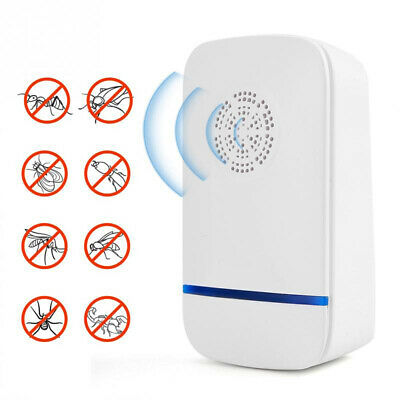 Ultrasonic Pest Reject Electronic Repeller Anti Mosquito Insect Bug Killer NEW