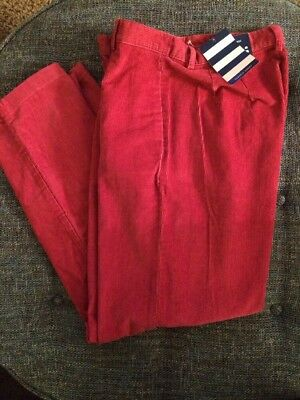 NWT WOMENS LANDS END CLASSIC CORDS Corduroy Pants Coral Rose Petite 4 X 29 Y11