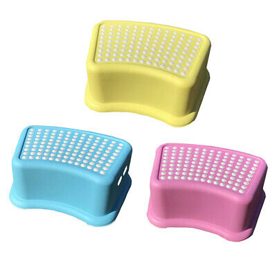 Non Slip Strong Utility Foot Stool Bathroom Kitchen Step Up Grip 3 Colours