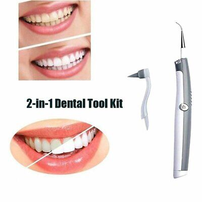 New Electric Sonic ABS Tooth Stain Eraser Plaque Remover Dental Tool K J↔