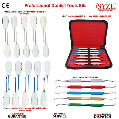 SYZE Dental Luxating Root Elevators, Composite Filling Instruments PK Thomas Set