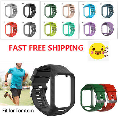 Soft Silicone Wrist Band Strap Fr Tom  Tom Runner 2&3/Golfer 2/Spark 3 GPS Watch