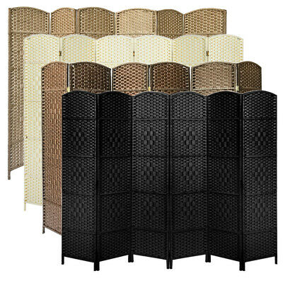 Hand Made Weave Wicker Folding Room Divider Privacy Screen Separator3/4/6 Panel