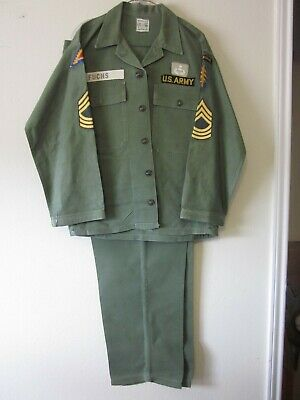 VIETNAM ERA US Army Uniform Good Luck Fatigue Blouse Airborne Special Forces
