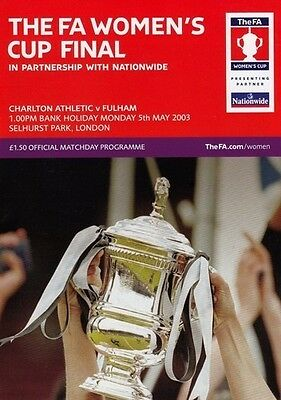 * 2003 WOMENS FA CUP FINAL - FULHAM v CHARLTON ATHLETIC *