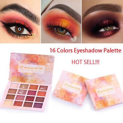 16 Colors Eyeshadow Palette Beauty Makeup Shimmer Matte Gift Eye Shadow Cosmetic