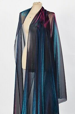 Sheer Two Tone Fine Netting Fabric Mermaid Costume Holographic Festival Rave