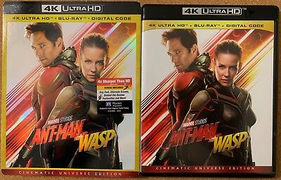 Marvel Ant Man And The Wasp 4K Ultra Hd Blu Ray 2 Disc Set Embossed Slipcover