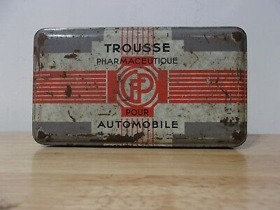 TROUSSE PHARMACEUTIQUE POUR AUTOMOBILE Automotive Pharmaceutical Kit vintage cfp