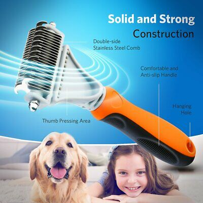 Pro Dog Brush for Shedding Cat Grooming Comb Tools Hair Pet Trimmer Clipper