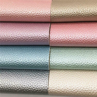 PU Vinyl Faux Leather Pearly Grain Fabric Car Interior Upholstery Bag DIY Sewing