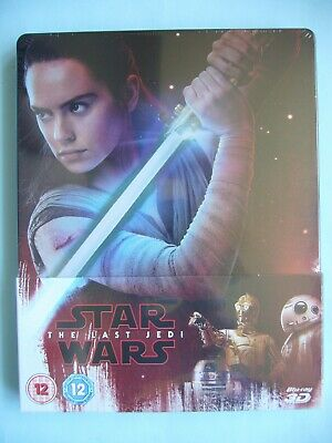 Star Wars Episode VIII: The Last Jedi 3D/2D Blu-ray Steelbook New Sealed OOP