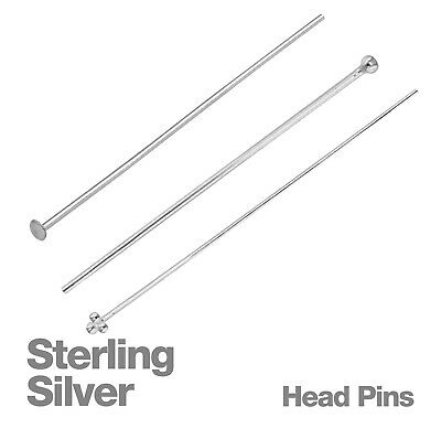 Sterling Silver Jewellery Head Pins Pack of 20