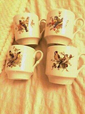 Set of 4 Bavaria Schumann Arzberg Bird Cups, Germany