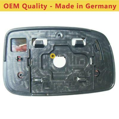 Left Side Covex Wing Mirror Glass For Kia Picanto Clip On Non Heated Fits to reg