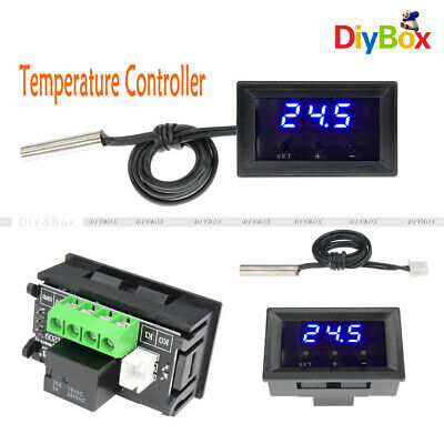 W1209 12V -50-110°C Digital Thermostat Temperature Controller Switch Sensor Blue