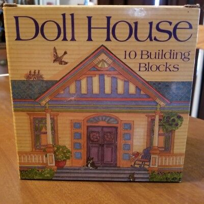 Doll House Nesting 10 Building Blocks Set My Stack & Play Imaginary Play