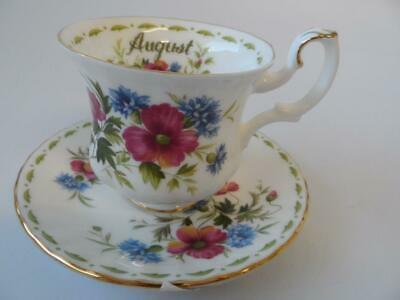 Royal Albert Flower Of The Month August Poppy Coffee Cup & Saucer