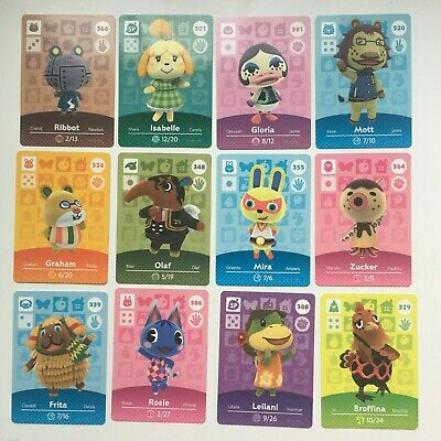Animal Crossing Amiibo Cards | Series 4 | Choose Your own | 301 - 400 | NEW