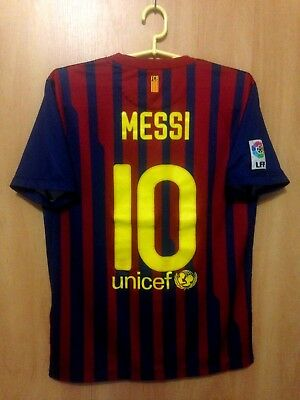 ef038a311ac Barcelona Spain 2011 2012 Home Football Shirt Jesrey Camiseta Lionel Messi   10