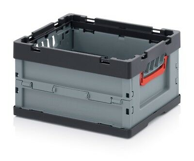 Professional - Tank Collapse 40x30x22 Plastic Crate Stackable Foldable Flip Box