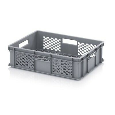 Plastic Box 60x40x15 Perforated Storage Box Stacking Crates Chest Euro