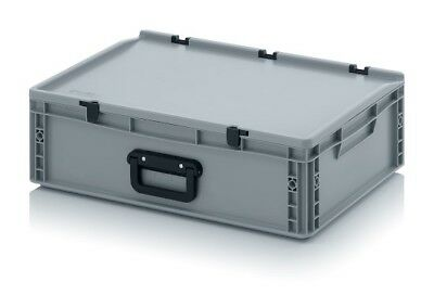 Transport Containers 60x40x18, 5 with Carrying Handle & Lid Case Box 600x400x185