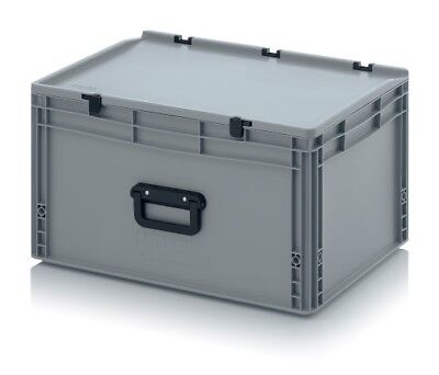 Plastic Container 60x40x33, 5 with Grip / Lid Crate Box