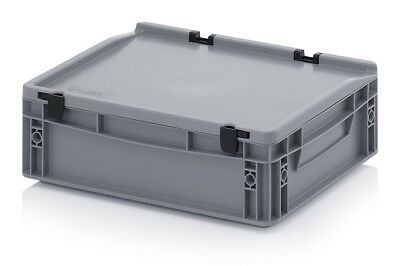 Euro Containers 40x30x13, 5 with Lid Stacking Lagerbox Stapelbox 400x300x135