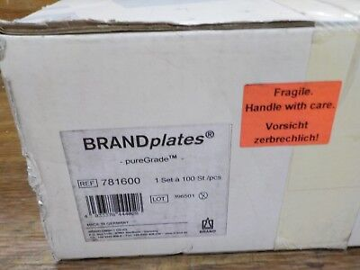 BrandTech 781600 BRANDplates pureGrade 96-Well x 330µL Assay Microplate, Non-Ste