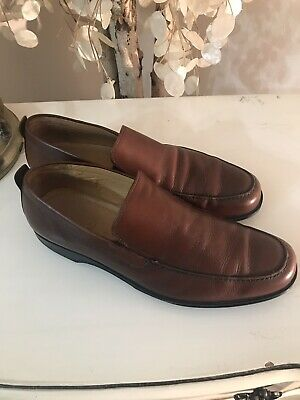 41803185559 COACH  CORBIN  BROWN Slip-On Loafers Shoes Made in Italy Size 10 B ...