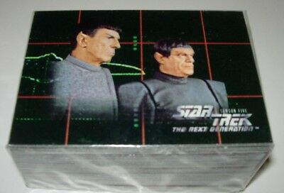 Star Trek The Next Generation Season Five Trading Cards Full Base Set
