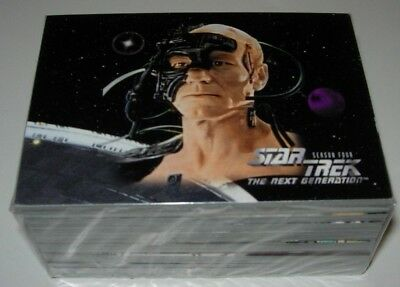 Star Trek The Next Generation Season Four Trading Cards Full Base Set