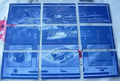 30 Years of Star Trek Phase 3 Trading Cards Blueprint Poster Chase Set #1-9