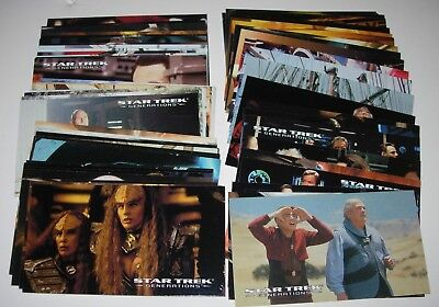 Star Trek Generations Widevision - Full 72 Card Base Set