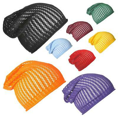 CABLE 100/% Cotton Summer Slouchy Beanie Stand Colours Light Weight Slouch Hat