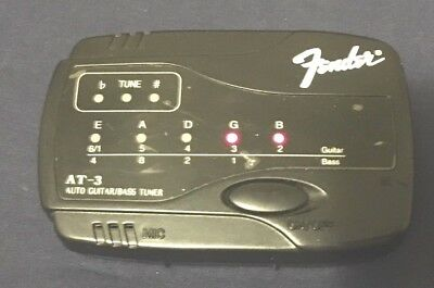 Fender At-3 Guitar/Bass Tuner~Works Well