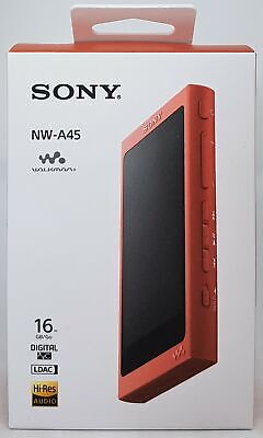 Sony NW-A45 High Resolution Walkman MP3 Player, 16 GB, Rot - Neu & OVP Händler