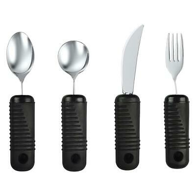 NEW Blue Jay Make Eating Easier Big Grip Utensil 4-Piece Set Mobility Aid