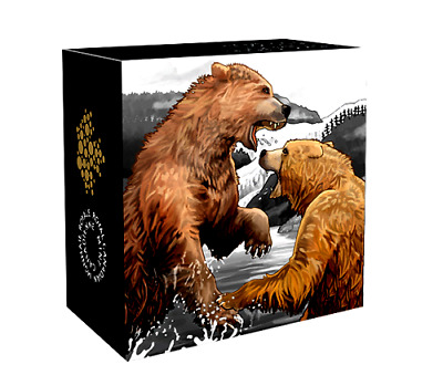 2016 Canada $20 Dollars 1 Oz. 9999 silver Grizzly Bear The Battle Proof