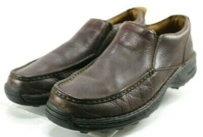 ab89947d182 Timberland Men s  110 Moc Toe Casual Loafers Shoes Size 10.5 Leather Brown